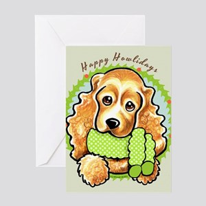 Cocker Spaniel Happy Howlidays Greeting Card
