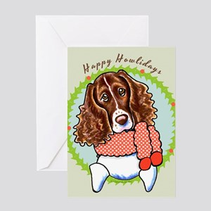 Springer Spaniel Happy Howlidays Greeting Card