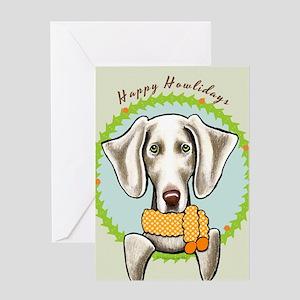 Weimaraner Happy Howlidays Greeting Card