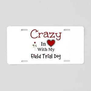 Field Trial Dog Aluminum License Plate