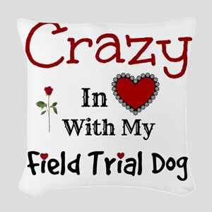 Field Trial Dog Woven Throw Pillow