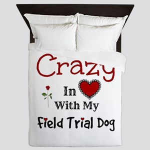 Field Trial Dog Queen Duvet