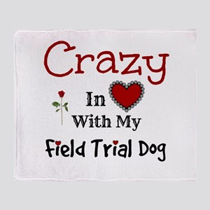 Field Trial Dog Throw Blanket