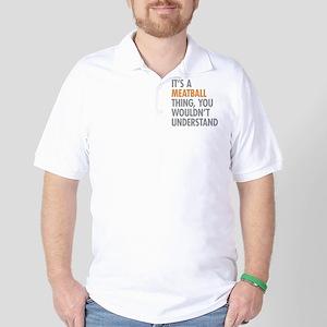 Meatball Thing Golf Shirt