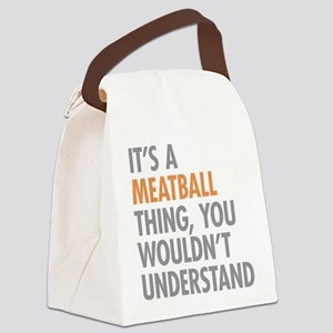 Meatball Thing Canvas Lunch Bag