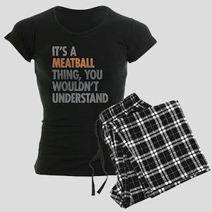 Meatball Thing Women's Dark Pajamas