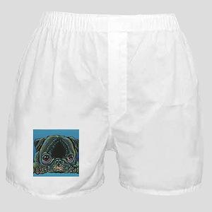 Rainbow Black Pug Boxer Shorts