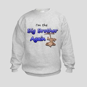 Hanging monkey Big Brother ag Kids Sweatshirt