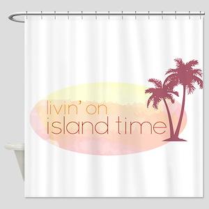 Island time 3 Shower Curtain