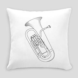 Euphonium Redwork Everyday Pillow