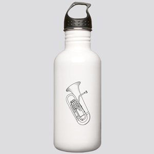 Euphonium Redwork Water Bottle