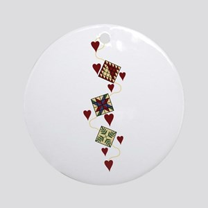 Quilting Design Ornament (Round)