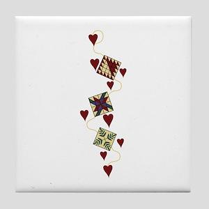 Quilting Design Tile Coaster