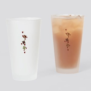 Quilting Design Drinking Glass