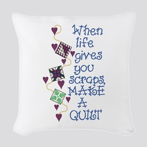 Make A Quilt Woven Throw Pillow