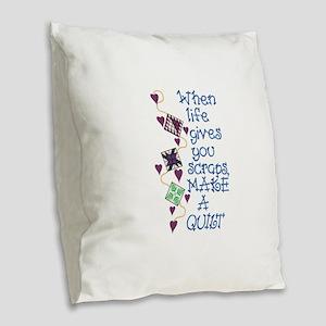 Make A Quilt Burlap Throw Pillow