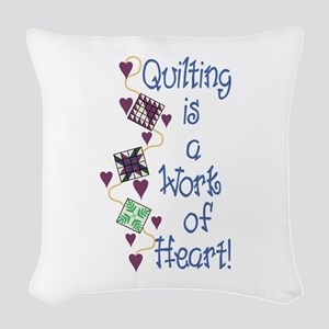 Work Of Heart Woven Throw Pillow
