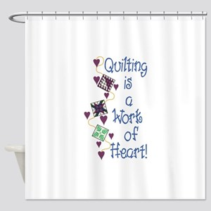 Work Of Heart Shower Curtain