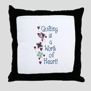 Work Of Heart Throw Pillow