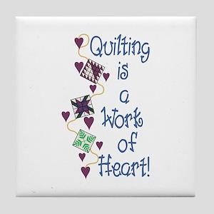 Work Of Heart Tile Coaster
