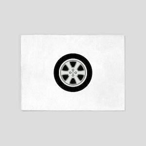 Wheel 5'x7'Area Rug