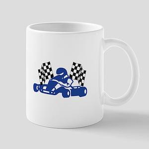 GoCart Racing Flags Mugs