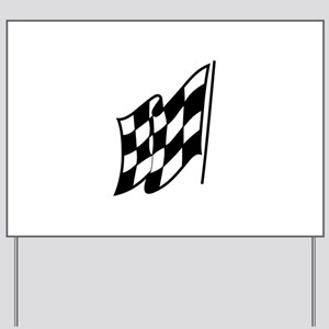 Checkered Racing Flag Yard Sign