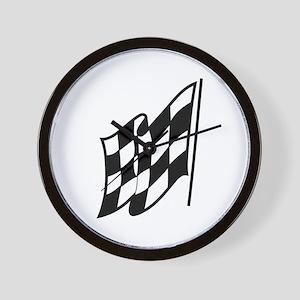 Checkered Racing Flag Wall Clock