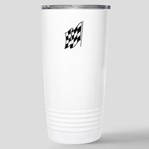 Checkered Racing Flag Travel Mug