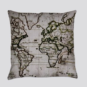 Vintage Map Everyday Pillow