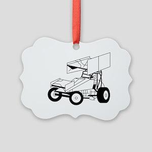 Sprint Car Outline Ornament