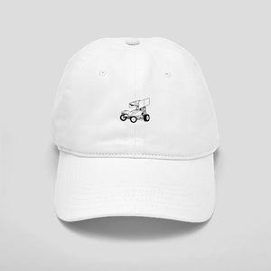Sprint Car Outline Baseball Cap
