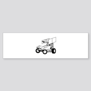 Sprint Car Outline Bumper Sticker