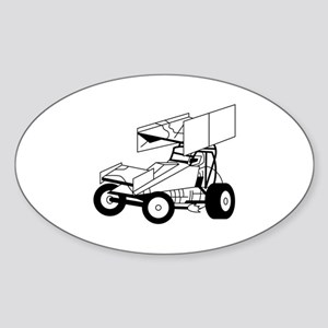 Sprint Car Outline Sticker