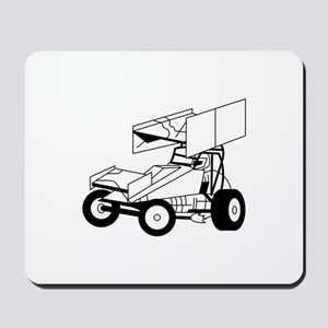 Sprint Car Outline Mousepad