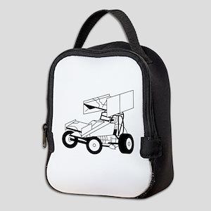Sprint Car Outline Neoprene Lunch Bag