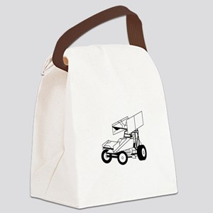 Sprint Car Outline Canvas Lunch Bag