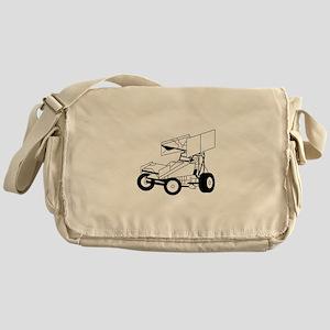 Sprint Car Outline Messenger Bag
