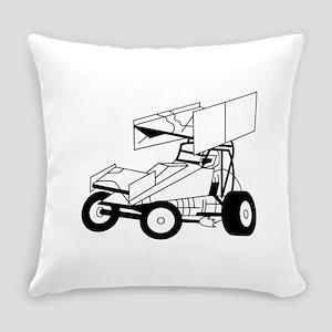 Sprint Car Outline Everyday Pillow