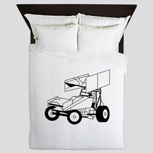 Sprint Car Outline Queen Duvet