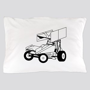Sprint Car Outline Pillow Case