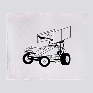 Sprint Car Outline Throw Blanket