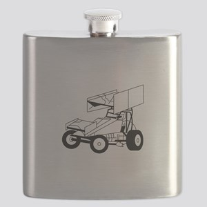 Sprint Car Outline Flask