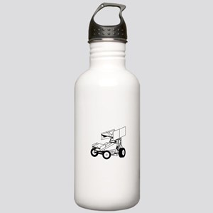 Sprint Car Outline Water Bottle
