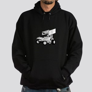 Sprint Car Outline Hoodie