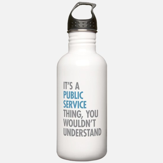 Public Service Thing Water Bottle