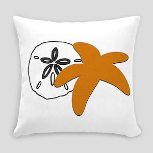 Sand Dollar Sugar Starfish Everyday Pillow