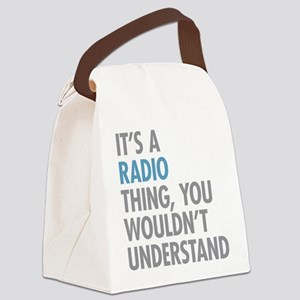 Radio Thing Canvas Lunch Bag