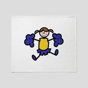 Cheerleader Throw Blanket