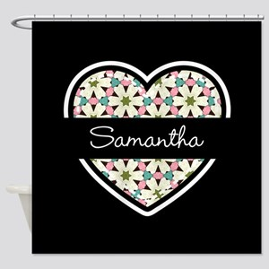 Personalized Stylish Black and Whit Shower Curtain